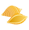 conchiglie pasta icon realistic style vector image