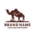 desert camel silhouette logo design vector image