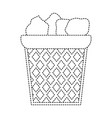 dotted shape office paper trash recycle document vector image