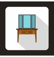 Dressing table with a mirror icon flat style vector image
