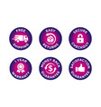 e-commerce security badges risk-free shopping vector image vector image