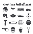 flat design icons of american football vector image vector image