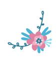 flower sketch floral elements a branch vector image