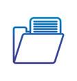 folder file office line gradient design vector image
