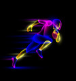 football player running with ball vector image