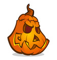 halloween cartoon pumpkin vector image vector image