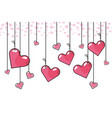 heart hanging background vector image