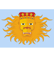 heraldic lions head vector image