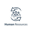 human resources concept company staff training vector image