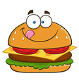 Hungry Burger Cartoon vector image vector image