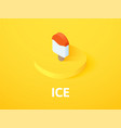 ice isometric icon isolated on color background vector image vector image