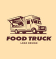 logos food truck vector image