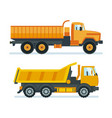 lorry for transportation of goods resources vector image