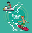 man surfing on the sea vector image vector image