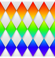 mosaic rainbow heart on black background vector image vector image