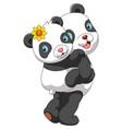 mother panda carrying cute bapanda vector image vector image