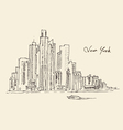 New York city engraving hand vector image vector image