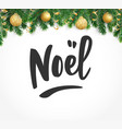noel hand drawn letters holiday greetings quote vector image