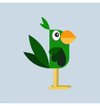 parrot in flat style vector image vector image