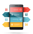 phone presentation template vector image