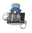 police binder clip in the character shape vector image vector image