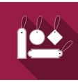 Price tag flat icon with long shadow vector image vector image