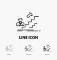 promotion success development leader career icon vector image