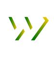 Reggae-Inspired Letter W vector image