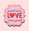 retro and vintage pink and red love word trendy vector image vector image