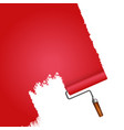 roller paints red vector image vector image