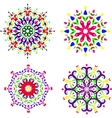 round pattern set vector image vector image