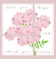 set of cards with words love you and thank you vector image