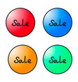 set of round colorful sale tags graphics vector image