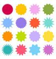 set starburst sunburst badges vintage labels vector image vector image
