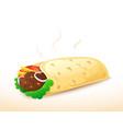 shawarma vector image vector image