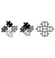 simple jigsaw puzzle pieces objects snap to each vector image