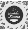 Simple Kitchen Emblem vector image