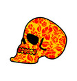 skull of khokhloma head of skeleton and flowers vector image vector image