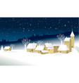 small christmas village vector image vector image