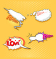 speech bubble set pop art comics style vector image