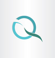 stylized letter q business symbol vector image