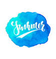 summer hand drawn calligraphy lettering vector image vector image