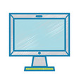 technology screen electronic equipment design vector image vector image