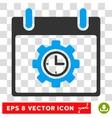 Time Gear Calendar Day Eps Icon vector image vector image