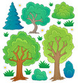 tree theme collection 1 vector image
