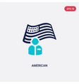 two color american icon from halloween concept vector image vector image