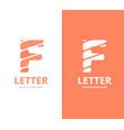 unique letter f logo design template vector image vector image