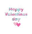 valentines day greeting card with love hearts and vector image vector image