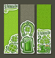 vertical banners for st patricks day vector image vector image