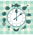 Watch food vector image